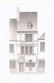 Architect's Drawing - Maison d'Adam et Ève - Historic Monument - Le Mans - Sarthe (France)