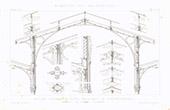 Drawing of Architect - Market - Tours - Loir-et-Cher - France (M. Guérin)