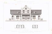 Architect's Drawing - Houses - Compagnie des mines - Aniche - Company town - North (M. Meurant)