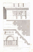 Architect's Drawing - Abbey church of St.Pierre in Chezal-Benoît - Cher (France)