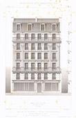 Dessin d'Architecte - Maison de rapport - Immeuble - Avenue Duquesne - Paris (P. Vigouroux Architecte)