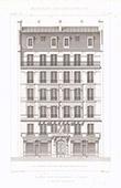 Dessin d'Architecte - Maison - Immeuble - Cité Rougemont - Paris (M. Husson Architecte)