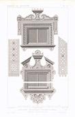 Architektenzeichnung - Weltausstellung - Isba - Russische Wohnung (Russland)