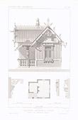 Architektenzeichnung - Weltausstellung - Russland - Pavillon du Commissaire Impérial