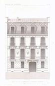 Dessin d'Architecte - Maison - Hôtel - Rue de la Bienfaisance - Paris (M. Davioud Architecte)