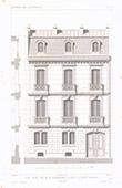 Desenho de Arquitecto - Casa - Hotel - Rue de la Bienfaisance - Paris (M. Lance)