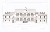 Dessin d'Architecte - Ecole - Avenue Trudaine - Paris (M. Lisch Architecte)