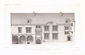 Architect's Drawing - Hôtel Lallemant - Bourges - Cher (France)