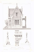 Architect's Drawing - Castle of la Rochefoucauld in Liancourt - Oise - France (A. Normand)