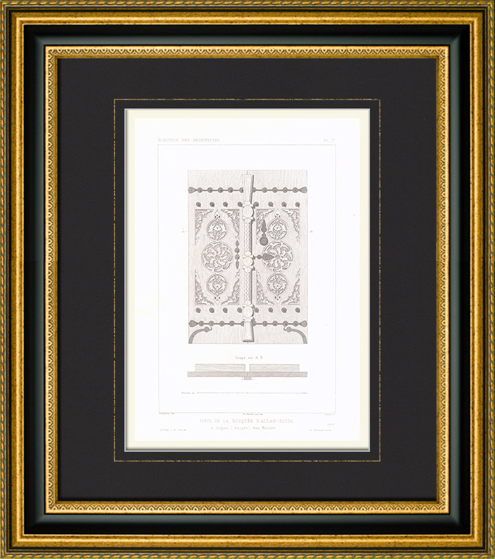 Stampe antiche disegno di architetto porta della - Architetto porta ...