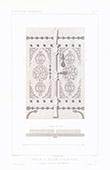 Architektenzeichnung - Tür der Moschee von Allah-Eddin in Angora - Kleinasien - Anatolien (Türkei)