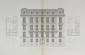 Desenho de Arquitecto - Hotel - Casa - Parc Monceau - Paris (M. Chatenay)