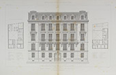 Architect's Drawing - Hotel - House - Parc Monceau - Paris (M. Chatenay)