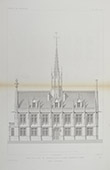 Architect's Drawing - City Hall of Breteuil - Eure - France (G. Simon)