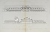 Architektenzeichnung - Chemin de fer de Paris à Orléans - Bahnhof von Paris (L. Renaud)