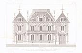 Desenho de Arquitecto - Hôtel de la Caisse d'Epargne - Abbeville - Somme - França (M. Simon)