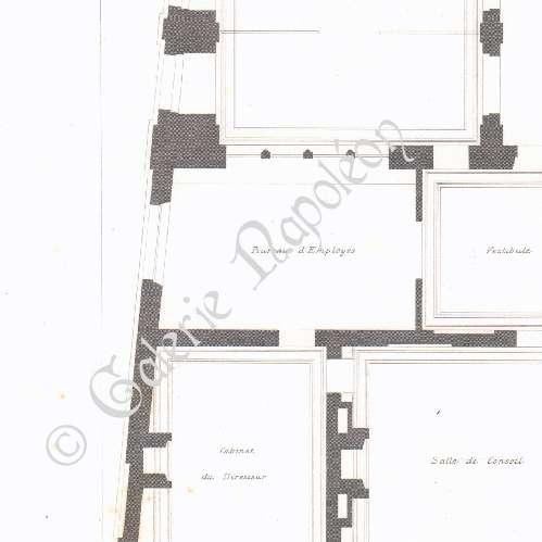 Gravures anciennes dessin d 39 architecte h tel de la - Plafond livret grand format caisse epargne ...