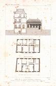 Architektenzeichnung - Hôtel de la Caisse d'Epargne - Abbeville - Somme - Frankreich (M. Simon)