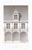 Architektenzeichnung - Hotel - Haus - Rue de la Vannerie - Dijon - Côte-d'Or (Frankreich)