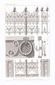 Architect's Drawing - House - Hotel of Prince Napoléon Bonaparte - Avenue Montaigne - Paris - Wrought Iron Gate