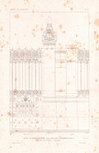 Architect's Drawing - House - Hotel of Prince Napoléon Bonaparte - Avenue Montaigne - Paris - Wrought Iron Gate (A. Normand)