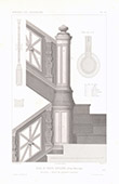 Architect's Drawing - House - Hotel of Prince Napoléon Bonaparte - Avenue Montaigne - Paris - Stairs