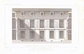 Desenho de Arquitecto - Hôtel Carnavalet - 3º Arrondissement de Paris - Façade de Jean Goujon - Les Quatre Saisons (França)