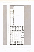 Architect's Drawing - Hôtel Carnavalet - 3rd Arrondissement of Paris (France)