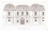 Architect's Drawing - Hôtel Carnavalet - 3rd Arrondissement of Paris (France)