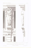 Architect's Drawing - House - Rue Ollivier - Paris - Caryatid (M. Laurancy)