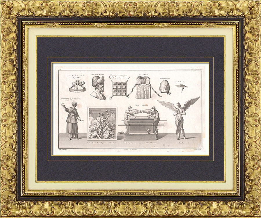 Antique Prints Tabernacle Temple In Jerusalem High