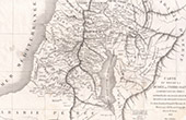 Antique map of Southern Judea or Holy Land (Frémin)