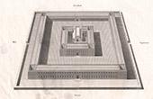 Temple de Salomon - Temple de Jérusalem - Vue - Elévation (Dom Calmet)