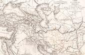 Alte Plan von Persische Reich (Frémin)