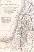 Antique map of Kingdom of Herod (Frémin)
