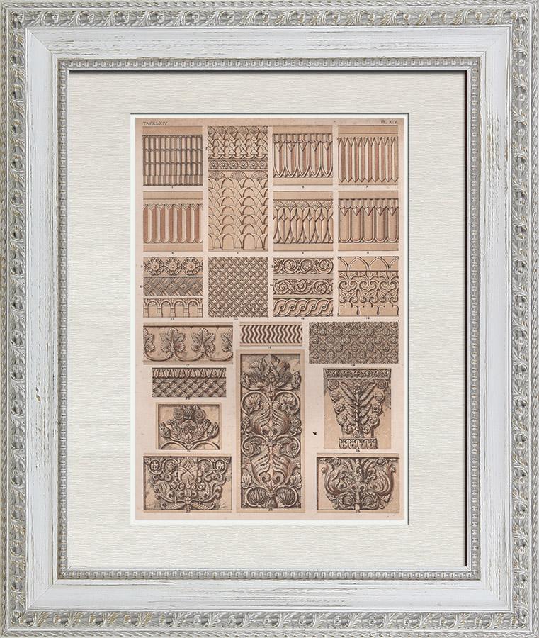 Gravures Anciennes & Dessins   Arts décoratifs - Assyrie et Perse   Chromolithographie   1865