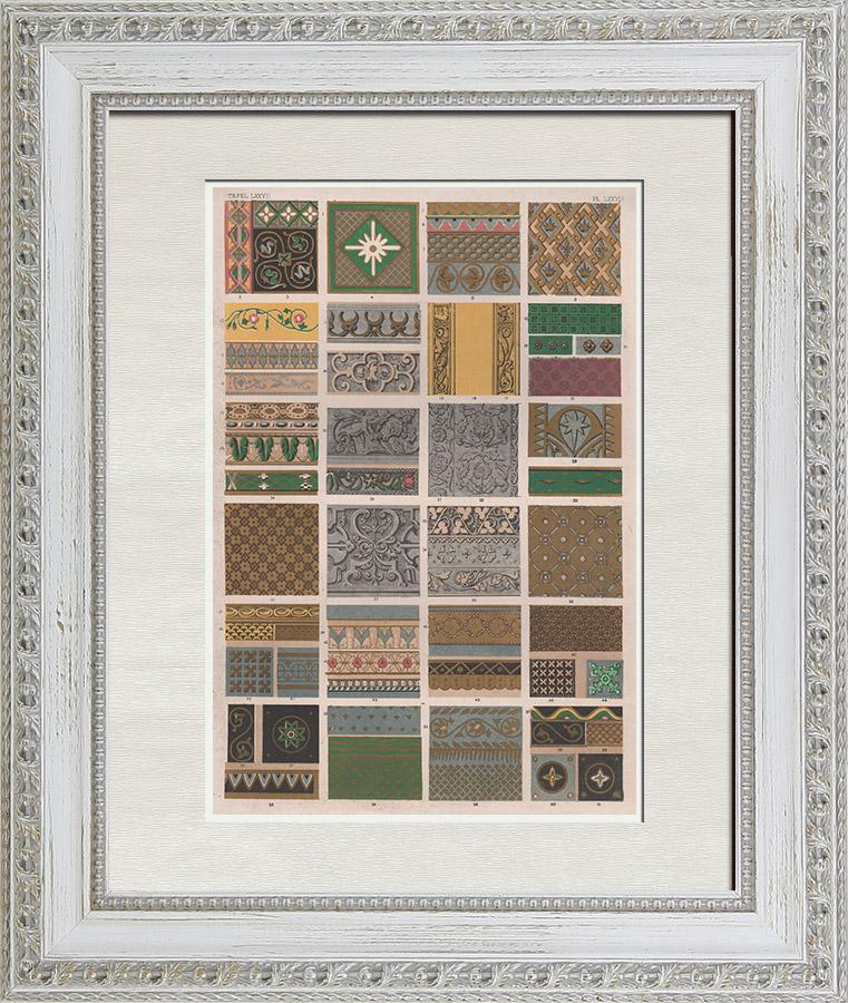Gravures Anciennes & Dessins   Arts décoratifs - Renaissance - Marlborough House   Chromolithographie   1865