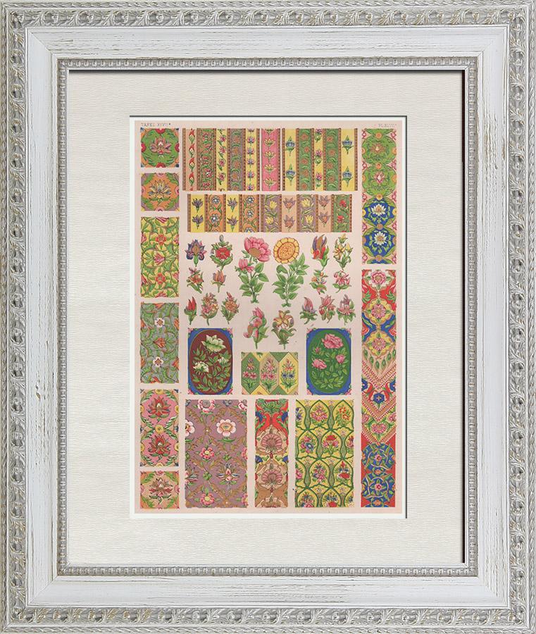 Gravures Anciennes & Dessins   Arts décoratifs - Perse - Marlborough House   Chromolithographie   1865