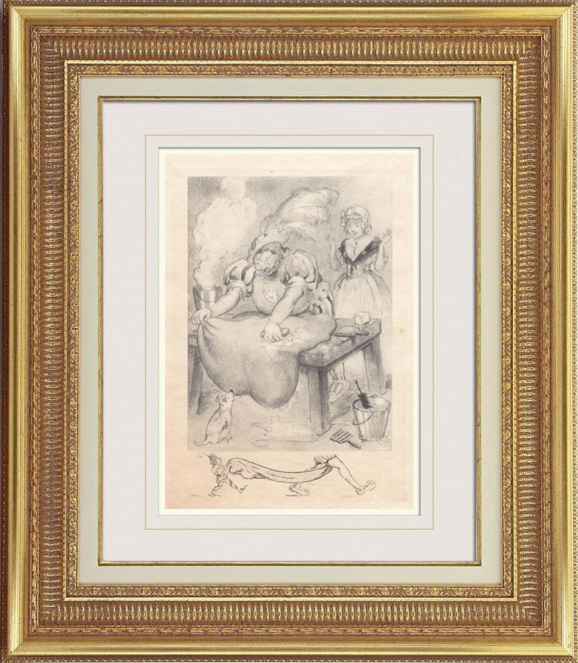 Gravures Anciennes & Dessins   Gargantua et Pantagruel - Rabelais   Photogravure   1936