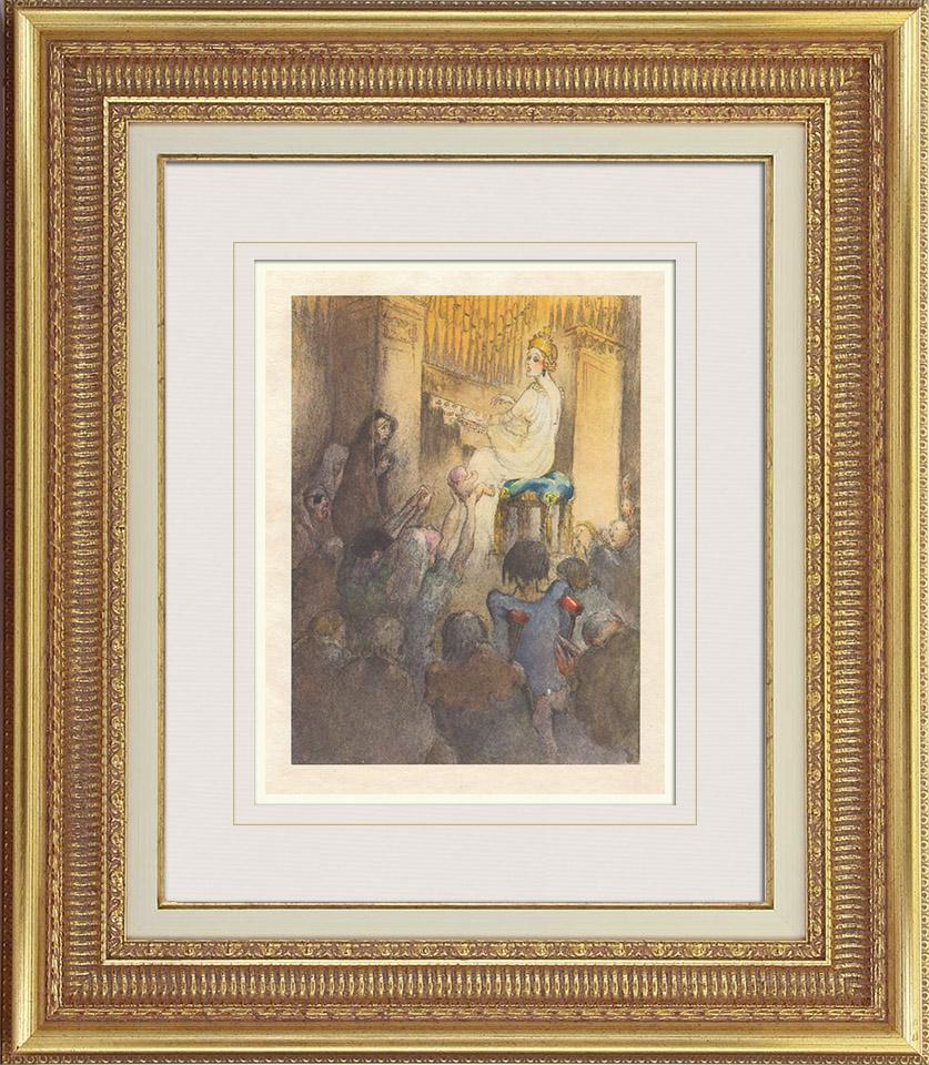 Gravures Anciennes & Dessins | Gargantua et Pantagruel - Rabelais - Orgue | Photogravure | 1936