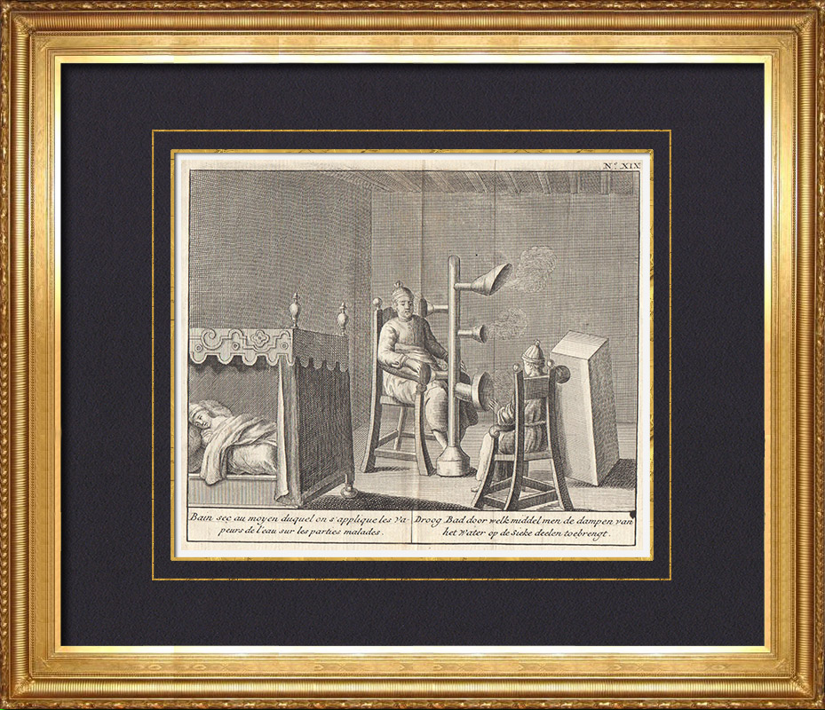 Antique Prints & Drawings | Aachen Thermal Baths - Thermal Spring (Germany) | Copper engraving | 1736
