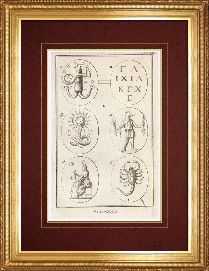 Gravures Anciennes & Dessins   Antiquité - Abraxas - Amulette - Talisman   Gravure sur cuivre   1773