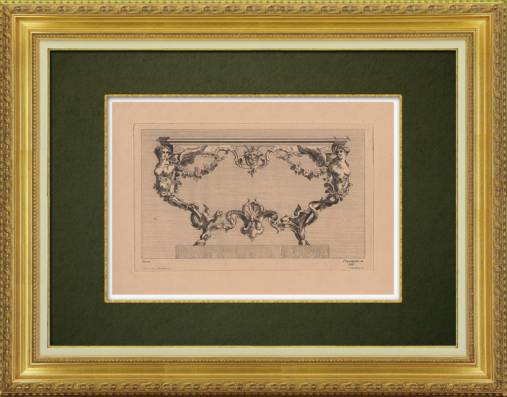 Antique Prints & Drawings   Decorative Arts - Furniture (Picau)   Strong water etching   1860