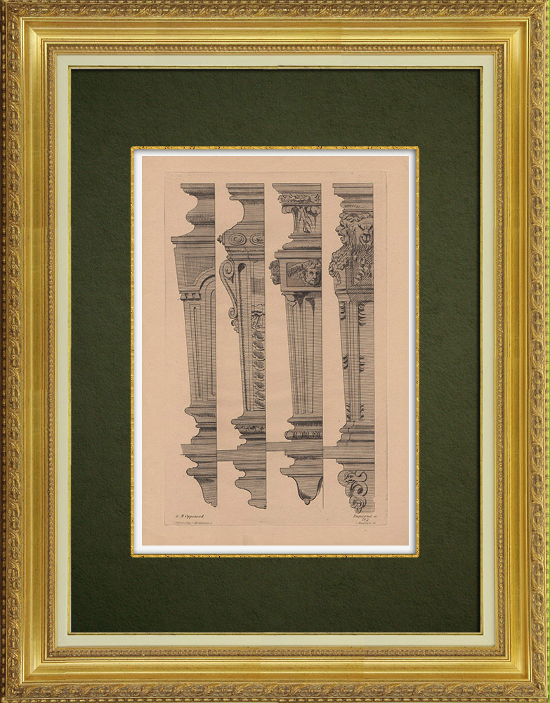 Antique Prints & Drawings | Decorative Arts - Decorations (Oppenord) | Strong water etching | 1860