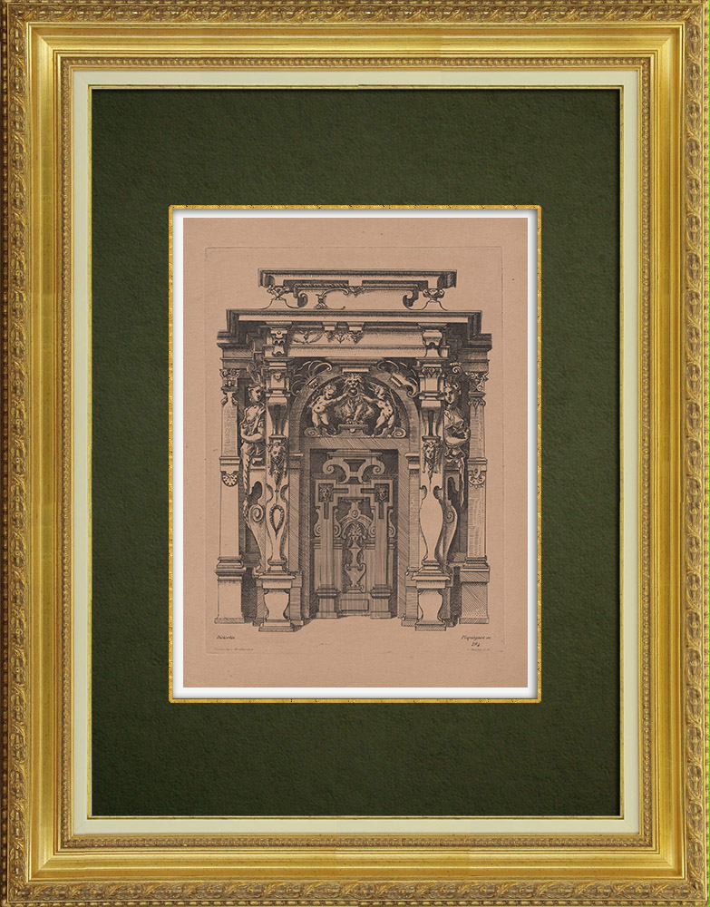 Antique Prints & Drawings   Decorative Arts - Decorations (Dieterlin)   Strong water etching   1860