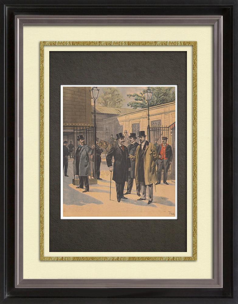 Gravures Anciennes & Dessins   Chambre des Députés - Élections législatives françaises de 1898   Gravure sur bois   1898