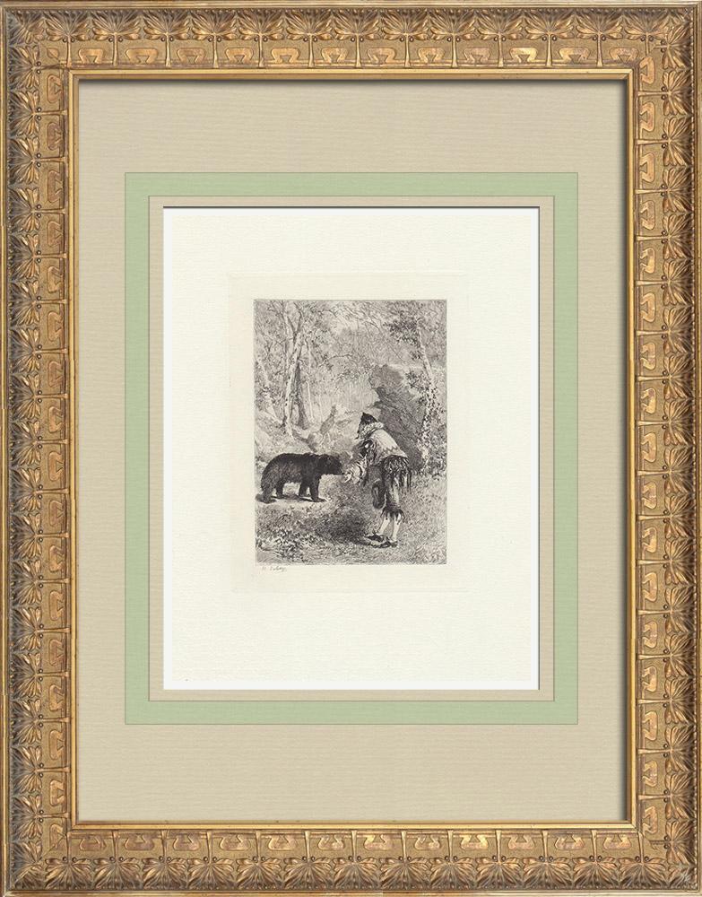 Antique Prints & Drawings | Plays by Molière - La Princesse d'Elide | Strong water etching | 1876