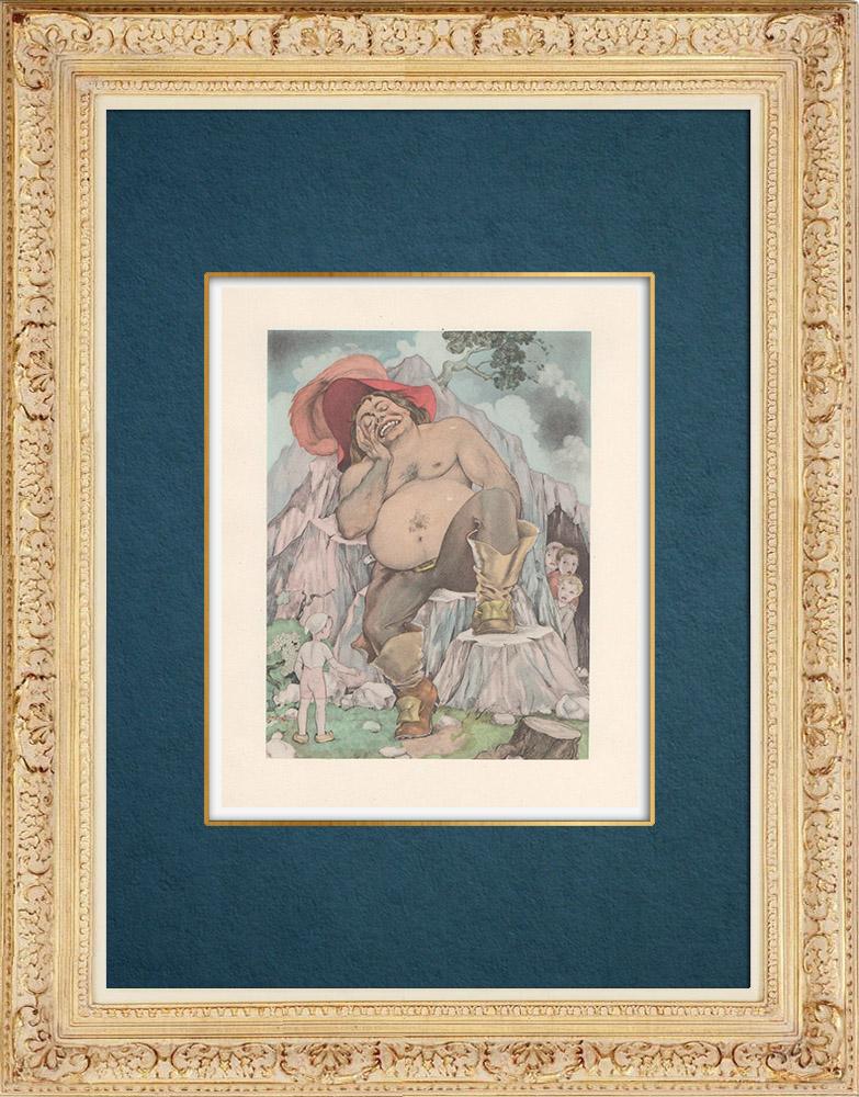 Antique Prints & Drawings | Contes de Charles Perrault - Hop-o'-My-Thumb | Print | 1946