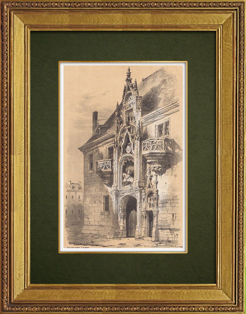 Gravures Anciennes & Dessins   Palais des Ducs de Lorraine - Nancy - Lorraine - Meurthe-et-Moselle (France)   Lithographie   1856