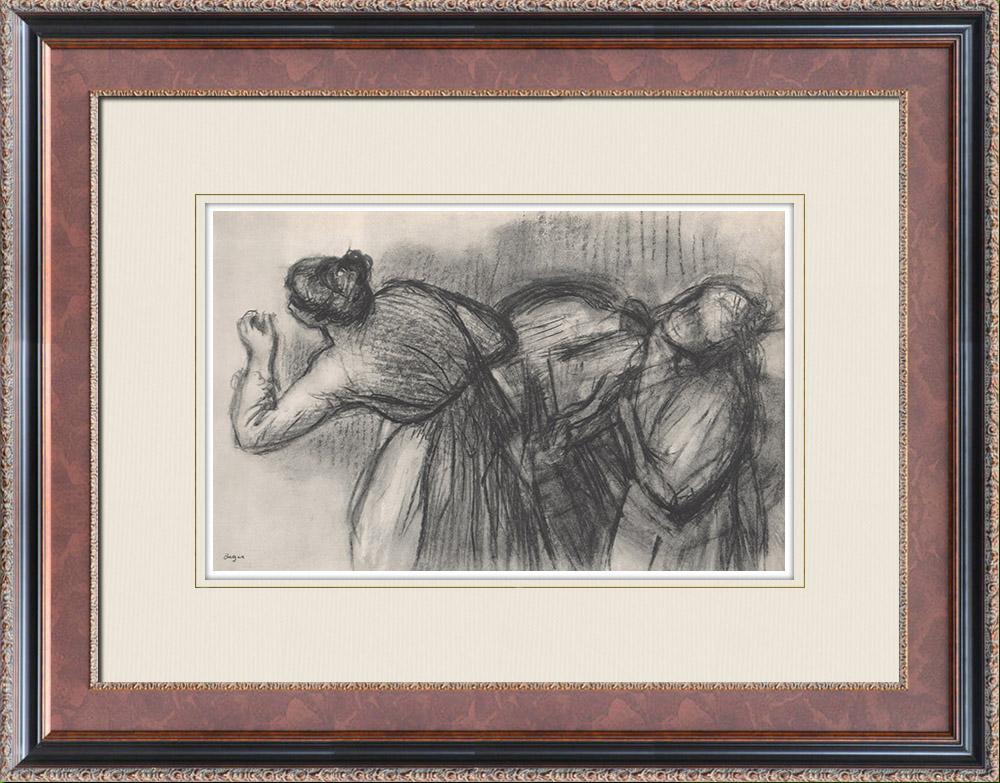 Gravures Anciennes & Dessins | Ballet - Danseuses - Blanchisseuses (Edgas Degas) | Héliogravure | 1933